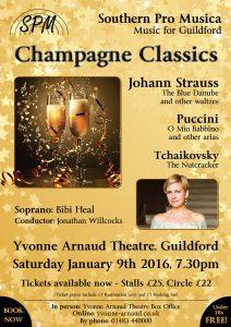 Sat Jan 9th Yvonne Arnaud Theatre Champagne Classics